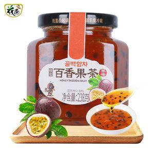 花圣蜂蜜百香果茶238g水果冲饮茶果酱泡水喝饮品奶茶自制原料
