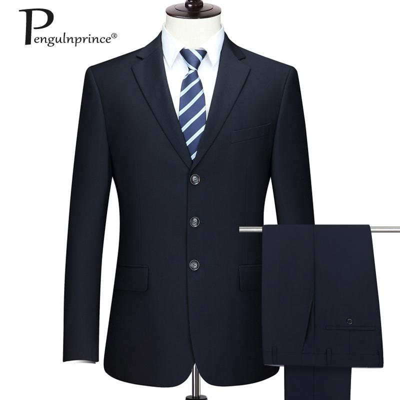 皮尔王子中年男士西服套装爸爸西装商务休闲正装加肥加大西服套装