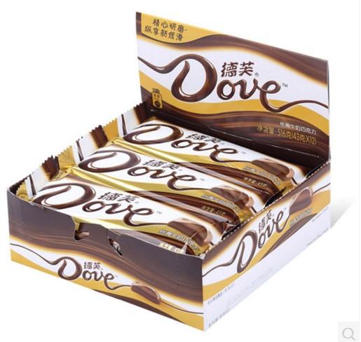 【柯丽蜜零食】德芙 丝滑牛奶巧克力 43g*12块 全国包邮 大块整盒