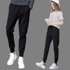 200 pounds large size pants autumn and winter fat mm sports pants loose trousers 5XL Wei pants XL feet casual pants