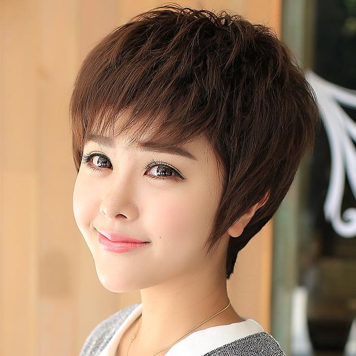 中老年假发女短卷发中年短发妇女士老人整顶妈妈的真发假发套发型