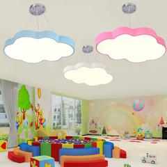 月亮星星创意灯具led 男孩卧室灯幼儿园教云朵吊灯卡通儿童房间