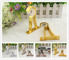 Thick aluminum alloy curtain rod bracket Roman rod bracket card holder curtain bracket rod clamp