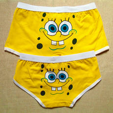 SpongeBob SquarePants Cotton Men's Boxer 衩 Cute Cartoon Couple Panties Women's Triangle Pants
