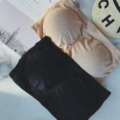 摩妮卡大码女装2019夏季防走光无缝裹胸胖mm显瘦带胸垫抹胸内衣