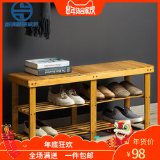 Bamboo shoes shelf s...