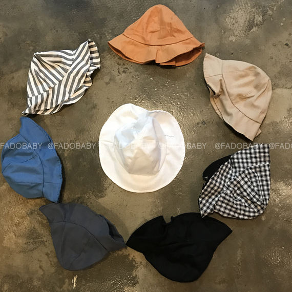 FADO new spring and summer new children's sunshade hats men and women baby solid color cotton hats fisherman hat autumn and winter