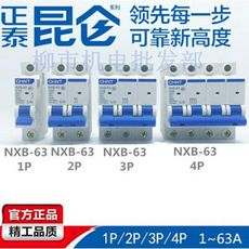 Zhengtai Kunlun NXB-63 1P2P3P4P household air switch breaker DZ47-60 upgrade version 63A