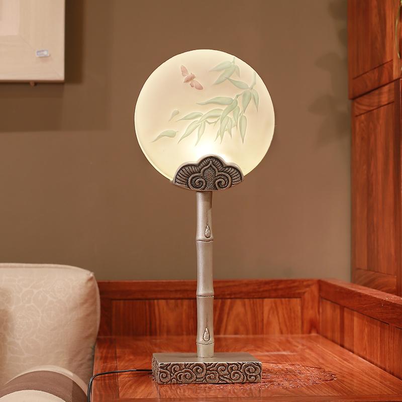 陋石坊创意新中式台灯卧室温馨床头灯现代简约家居暖色客厅装饰灯
