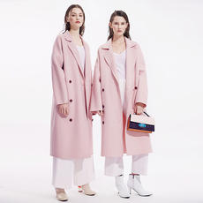 Double-faced cashmere coat female Slim long 2018 autumn and winter double-sided 昵 handmade wool coat thick coat
