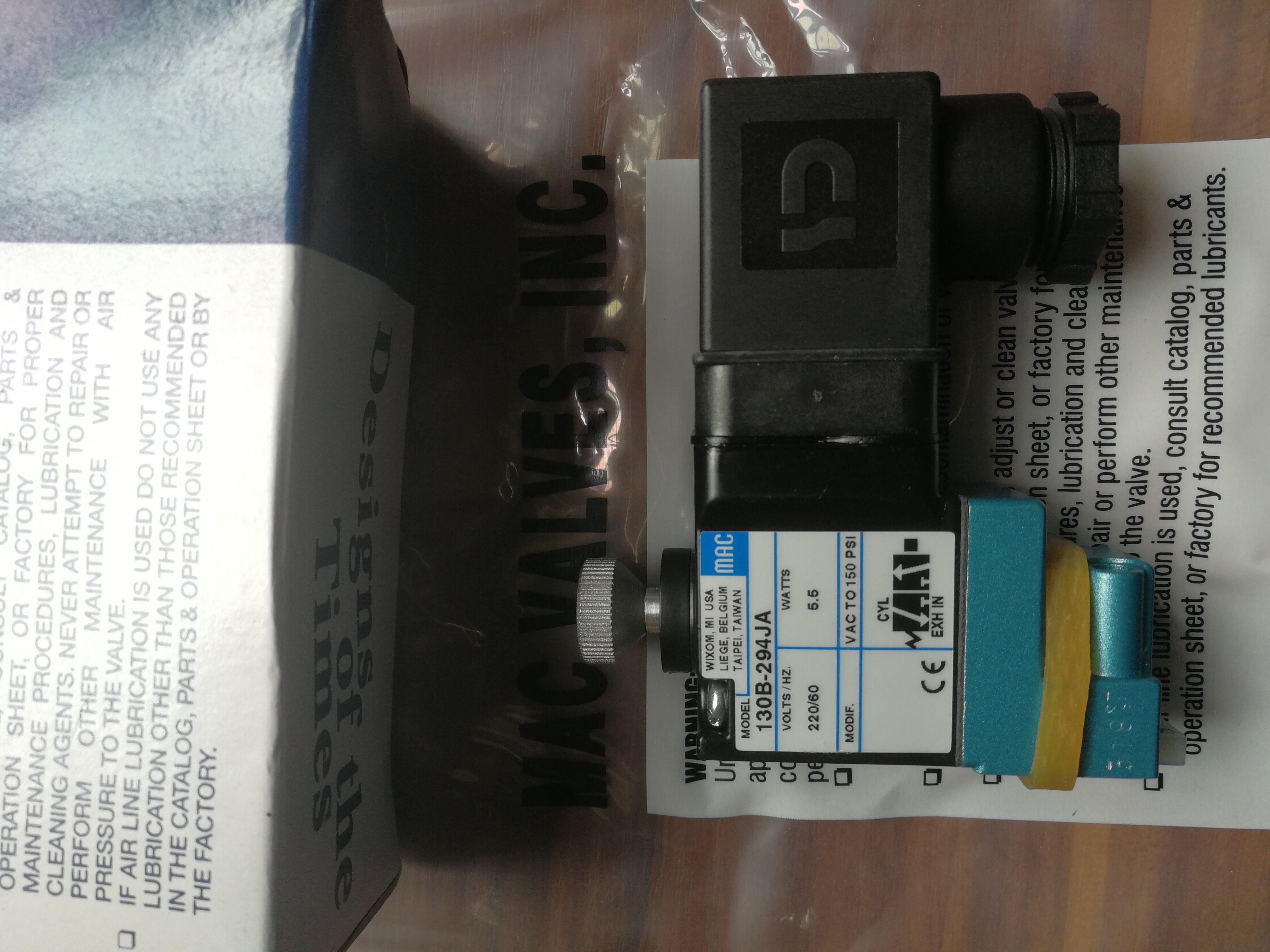 美国MAC电磁阀,130B-294JA,高频电磁阀