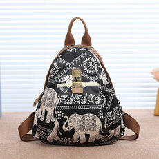 Gillian new Oxford cloth shoulder bag national style fabric leisure large capacity travel backpack literature and art wild models