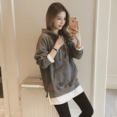 Cheap nine nine long-sleeved fake two-piece sweater Korean version of the loose 10 yuan below women's clothing 9.9 yuan autumn and winter tide