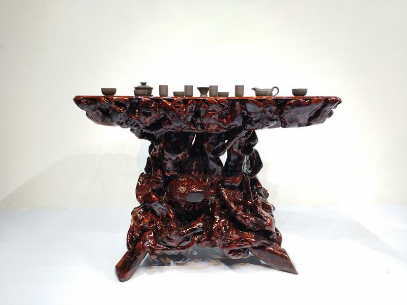 根雕茶台茶桌杜鹃根香樟木树根茶几定制功夫泡茶客厅餐桌实木茶桌