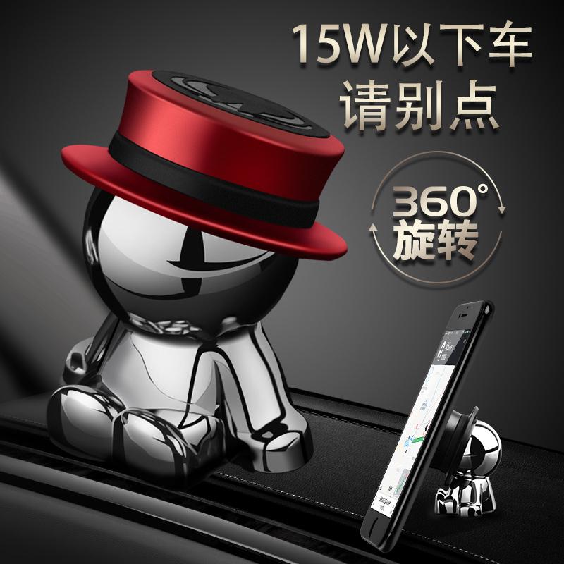 车载手机支架中控可爱车上磁吸磁铁吸盘式汽车强磁支撑导航支驾女