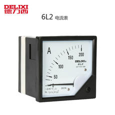 Authentic Delixi fixed pointer AC ammeter electric measuring instrument 6L2 300/5
