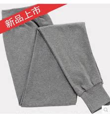 Men's High-waist Cotton One-Piece Pants Middle-aged Thin section Warm Underwear Middle-aged Loose cotton pants Large yard Line pants