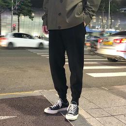 方寸先生男士裤子秋季新款2018韩版潮流休闲束脚黑色修身九分裤男