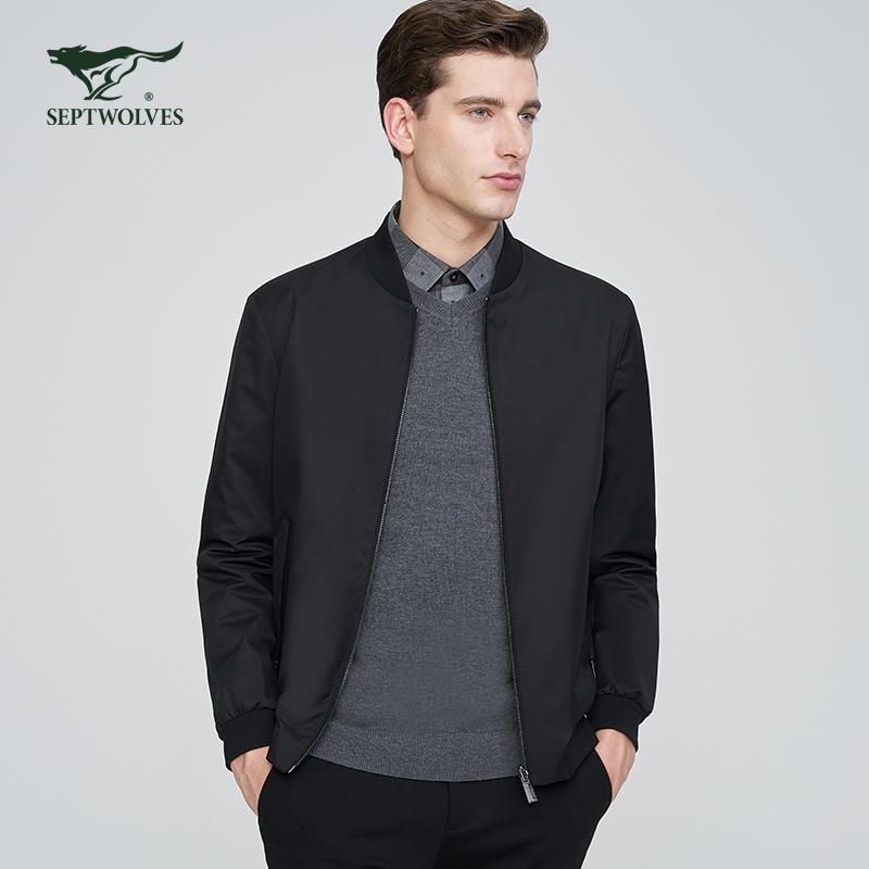 【专柜同款】七匹狼双面夹克年新品时尚休闲男装夹克外套男士