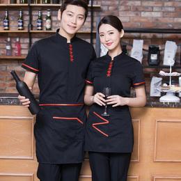 餐厅茶服务员衣服火锅店韩国餐饮店烧烤工作服夏装制服短袖酒店