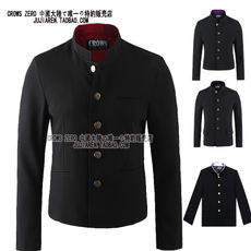 With beautiful lady Qing Yan male high school college school uniform lily of the valley ultimate class men's self-cultivation tunic collar coat