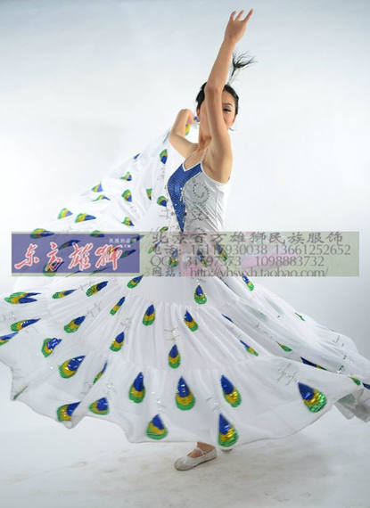 Dai dance costumes women's clothing peacock dance costume peacock flying dance performance costumes new custom rental