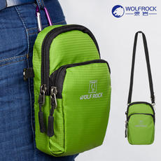 Wolf Rock male and female models outdoor shoulder bag diagonal package can wear a small bag document bag portable waterproof