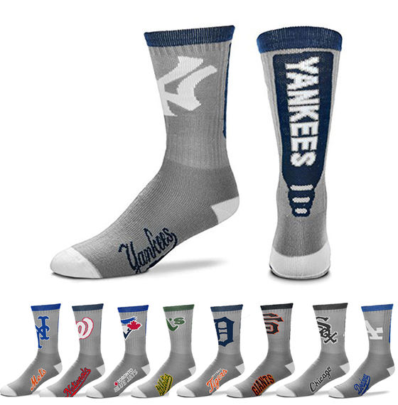 MLB team For Bare Feet fans baseball socks towel in the tube autumn and winter models men's and women's Yankees