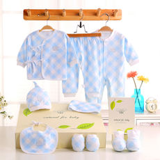 Baby gift box spring and autumn newborn clothes cotton 0-3 months newborn baby clothes autumn maternal and child supplies