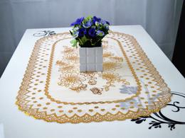 欧式田园高档PVC桌布烫金台垫桌垫镂空 免洗餐桌布台布茶几垫