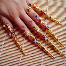 Avalokitesvara Dance Ornaments Armor Set Court Queen's Fake Nails Nail Set Dai Dance Jewelry