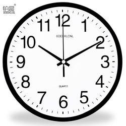 铂晨挂钟时尚简约钟表卧室客厅静音时钟现代挂表创意圆形石英钟表