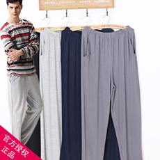 Older Pajamas Men Summer Pure Cotton Middle-aged Home Loose Large Size Thin Modal Men's Pants Trousers