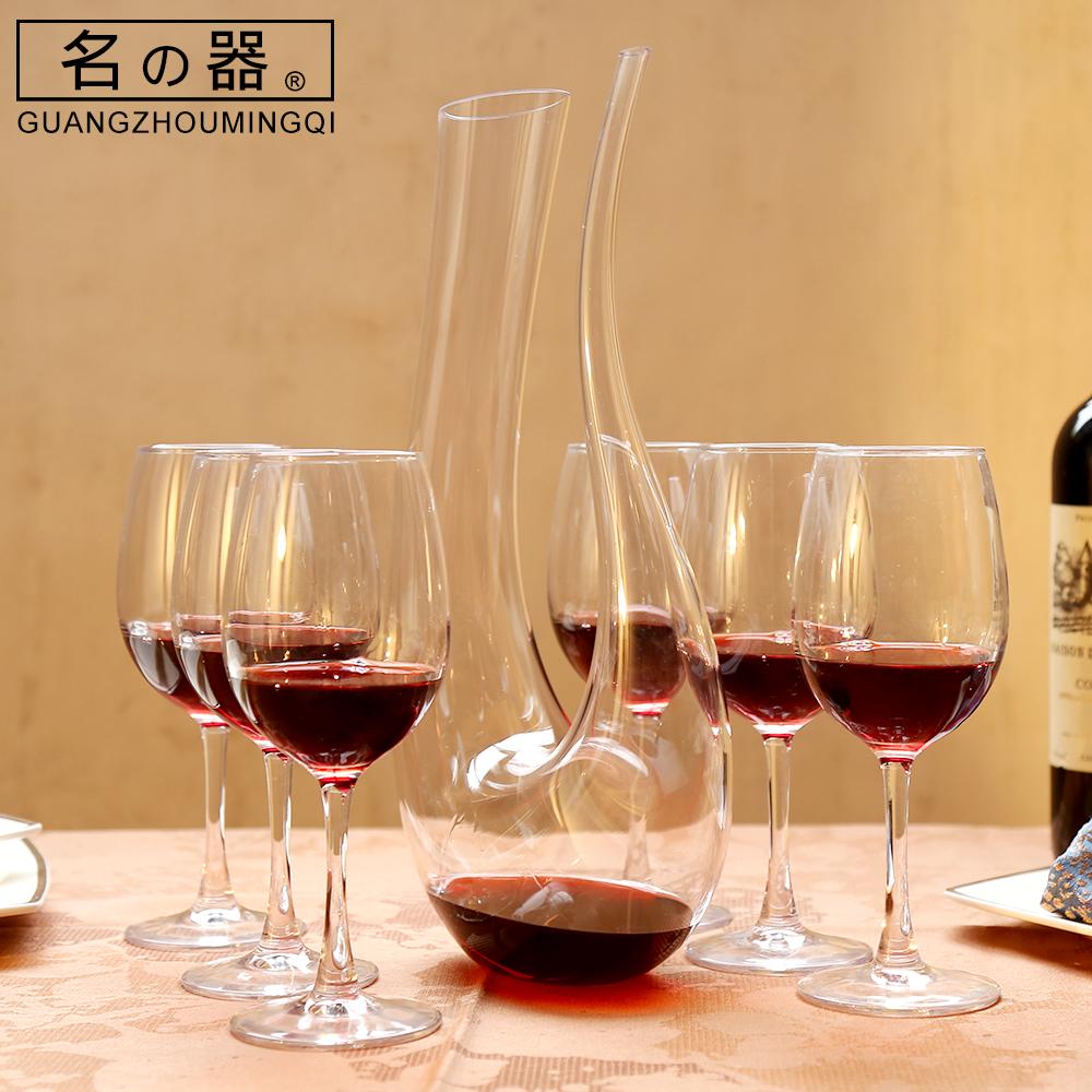 水晶红酒醒酒器套装家用欧式个性醒酒壶红酒杯高脚杯套装6个只装图片