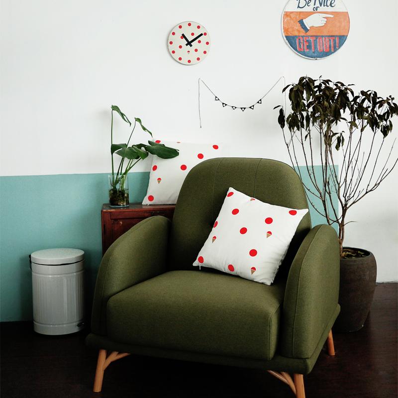 猪娃礼物 zakka森系小清新文艺风布艺方形抱枕 刺绣靠垫沙发靠垫