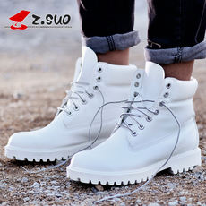 Walking men's shoes boots autumn and winter Martin boots white outdoor boots lovers boots tooling boots military boots motorcycle boots shorts tide male