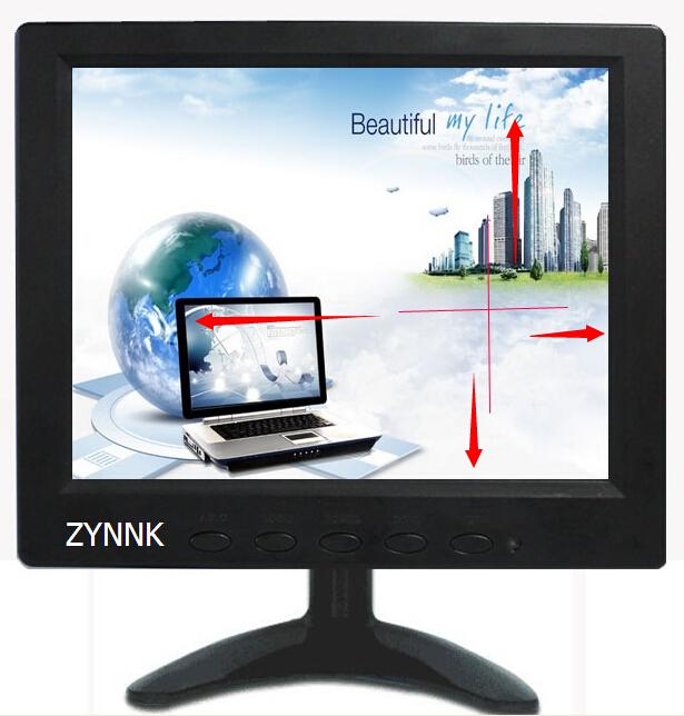 8寸工业显微镜监视器移动十字线医疗微型监迷你电脑显示器LED