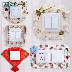 Cloth switch cover switch wall stickers creative living room bedroom lamp wall socket decoration stickers simple modern