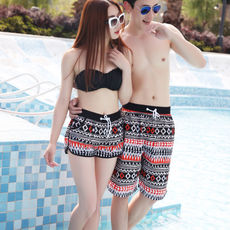 Shorts men's summer casual sports five points big pants tide summer loose couple quick-drying men's holiday beach pants