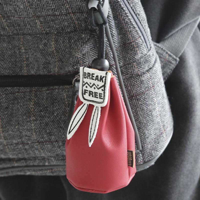 韩版女士兔耳朵零钱包 学生可爱钥匙创意拉链包 男女可爱短款钱包