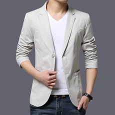 Spring and autumn thin suit male 2018 new cotton slim youth trend large size men's casual suit jacket