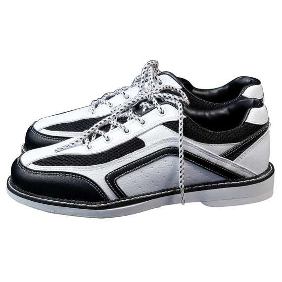 Arc-rolling bowling products New black and white models First layer real cowhide Comfortable men's bowling shoes