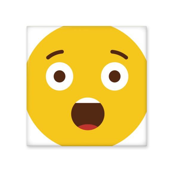 惊讶震惊黄色可爱卡哇伊聊天网聊表情包厨房浴室墙面装饰创意瓷砖图片