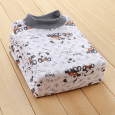 2018 children's clothing children's thermal underwear set cotton winter boy girl big three-layer thick cotton cotton sweater