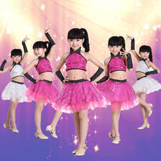 Children's Day Jazz Dance Costumes Girls Modern Dance Performance Costumes Sequined Skirts Children's Dance Wear