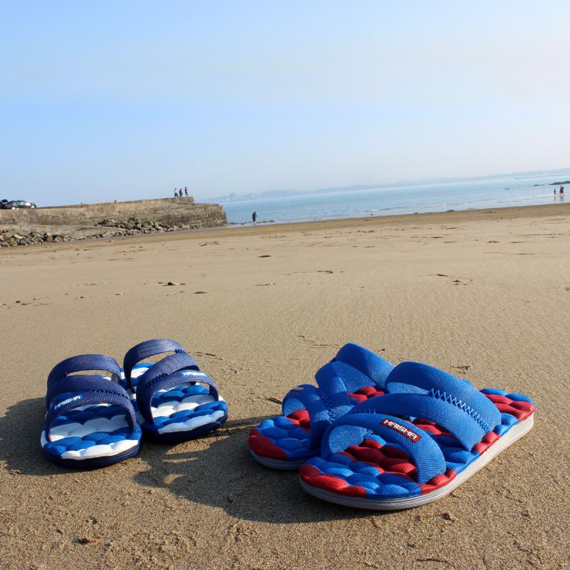 海鲨男士按摩拖鞋夏季室内家居洗澡浴室凉拖鞋防滑塑料居家拖鞋