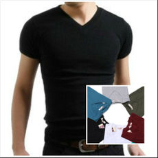 Red-breasted bird Slim men's cotton vest sweat-absorbent tight sports fitness base sweat sweat vest summer shirt