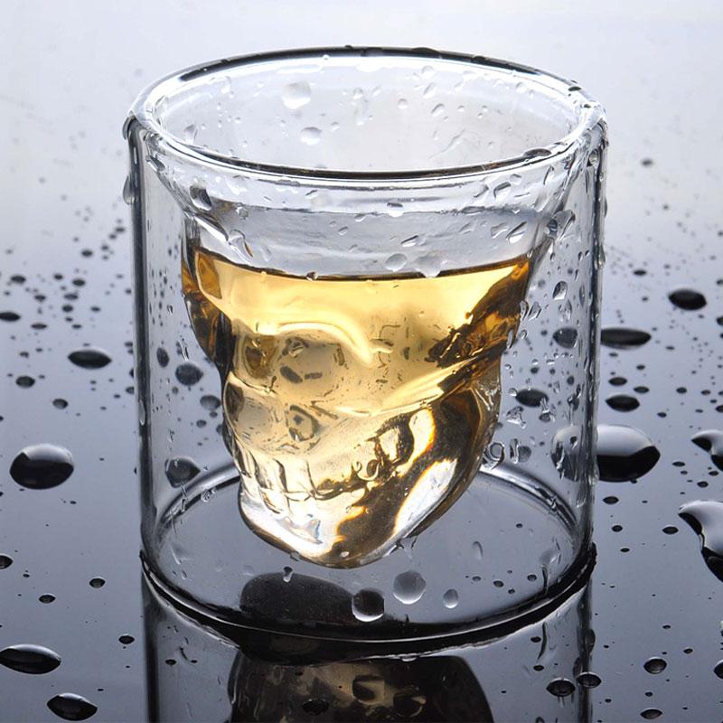 【香港9pig】 水晶烈酒杯 水晶骷髅杯 红酒杯 玻璃杯创意酒吧杯子图片