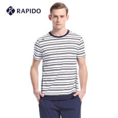 Rapido counter with the same paragraph summer new men's striped sports casual short-sleeved T-shirt CN7342S25