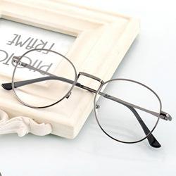 文艺复古眼镜框男款韩版圆形近视眼镜架女金属全框防辐射平光镜潮